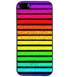 PrintDhaba Pattern D-2641 Back Case Cover for APPLE IPHONE 5 (Multi-Coloured)