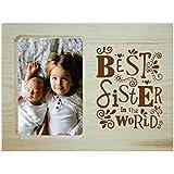 [Sponsored]Yaya Cafe Rakhi Gifts For Sister Photo Frame For Table Best Sister In World Engraved Wooden