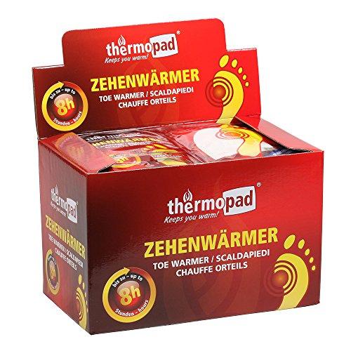 Thermopad Zehenwärmer - Calentadores de pies, color beige, talla 30 Pairs