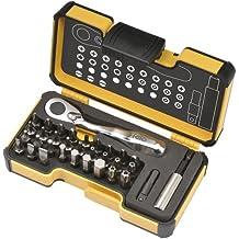Felo 057 733 06 XS 33 Box - Juego de minicarraca y llaves de vaso (33 piezas)