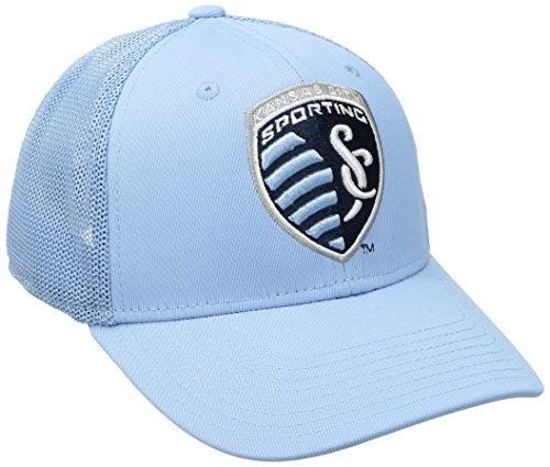 adidas MLS SP17 Fan Wear Tactel Trucker Flex Gap, Herren, MLS SP17 Fan Wear Tactel Trucker Flex Cap, blau, Small/Medium Tactel Flex-cap