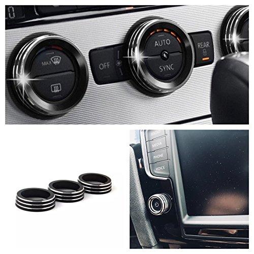 Emblem Trading Radio Klima Heizungsregler Schalter Ringe Passend Für Golf 7 Tiguan 2 Passat B8 T-Roc Aerton Touran Caddy Polo