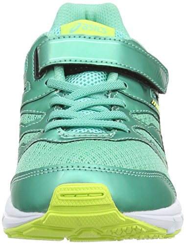 Asics Gel-zaraca 4 Ps, Chaussures de Running Entrainement Mixte enfant Bleu (aqua Mint/flash Yellow/black 7007)
