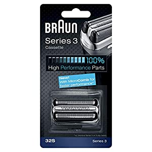 Braun Shaver Replacement Part 32S Silver, Compatible with Series 3 Shavers