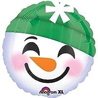 "Anagram Snowman Smiley Face Emoji 18"" Foil Balloon"