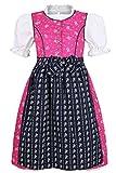 Coala Mädchen Mädchen Dirndl geblümt pink blau mit Bluse, Pink/Blau, 122/128