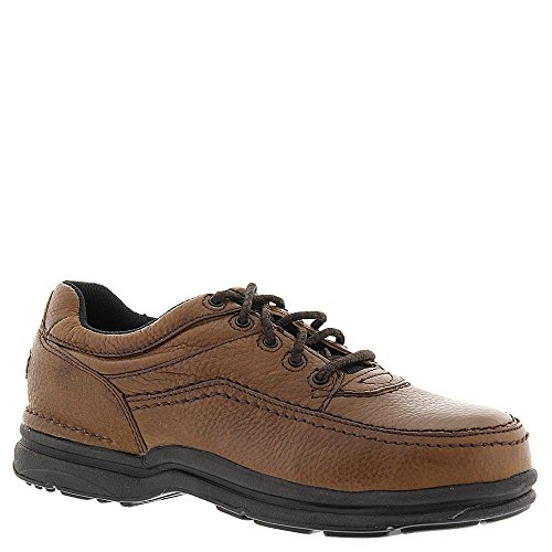 Rockport WorksGäó World Tour Casual Moc Toe Oxfords With Steel Toe, Brown, 14 Steel Toe Work Oxford
