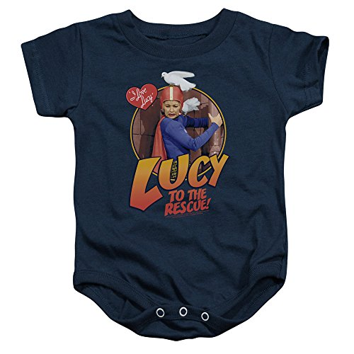 I Love Lucy - - Le bambin à Onesie sauvetage, 6 Months, Navy