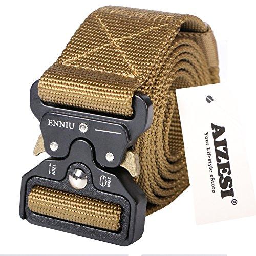 AIZESI Beutegürtel Herren Militär Taktische Gürtel Khaki Nylon Gürtel Outdoor Sportart Verstellbare Gurtband (7 8 Nylon-gurtband)