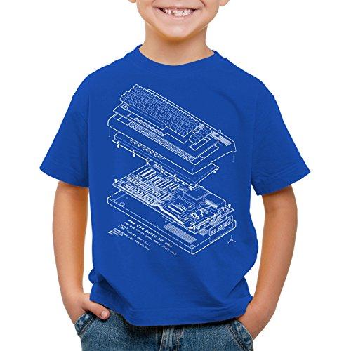 A.N.T. C64 Basic V2 T-Shirt für Kinder heimcomputer Classic Gamer, Größe:104