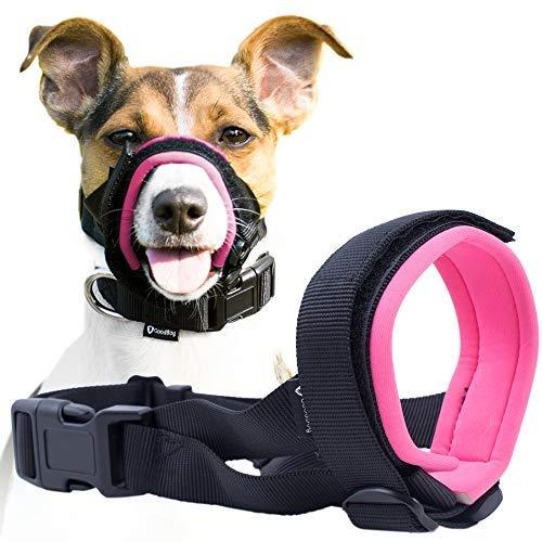 Good Boy Maulkorb für Hunde - Verhindert Bisse, ungewolltes Kauen - Kein Wundscheuern Mehr (L, Rosa)