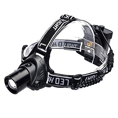 Hisea CREE XPE LED Stirnlampen Kopflampe Taschenlampe Stirnleuchte mit Einstellbarem Fokus Kopfband