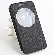 Prevoa ® 丨 Elephone P8000 Funda - Flip PU S - View Funda Cover Case para Elephone P8000 Smartphone - Negro