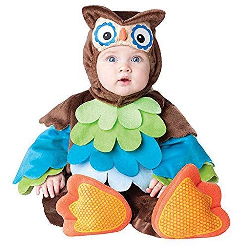 DMMDHR Halloween Neue Baby Jungen Mädchen Tier Kostüm Cosplay Weihnachten Halloween Purim Urlaub Geburtstag Party Cosplay Dress Up Outfit, - Baby Eule Kostüm Mädchen