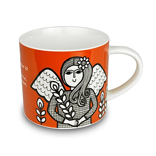 Jane Foster-Tazza in porcellana Fine, motivo: segno zodiacale, Vergine Sign.Gift Star, in confezione regalo