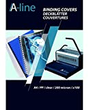 A Line–8005550tapas de encuadernación carátulas protectores transparentes, DIN A4, 0.20mm de grosor, polipropileno, 100unidades), transparente