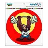 Graphics and More Gym Beast mit Gewichten Gewichtheben Krafttraining Automotive Car Kühlschrank Locker Vinyl Kreis Magnet