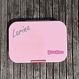 Anton & Sophie YUMBOX Original (mit 6 Fächern) - PERSONALISIERBAR - Brotbox mit Fester Fächerunterteilung - auslaufsichere Brotdose für Schule (Hollywood Pink)