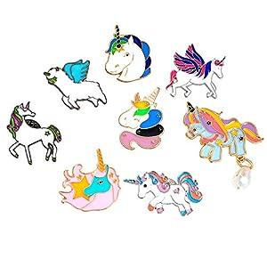 @Y.T Pegasus männliche und weibliche Brosche der 8-teiligen Kombinationskarikatur buntes niedliches Broschezubehör