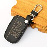 Leder Auto Styling Auto Remote Key Cover Fall holder-fit Landrover Range Rover Evoque Freelander 2 Discovery 3/4 5 Tasten