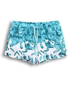 OME&QIUMEI Playa Pantalones Sueltos Los Amantes Masculinos Y Femeninos Beach Surf Shorts Shorts Y Playas De Secado...