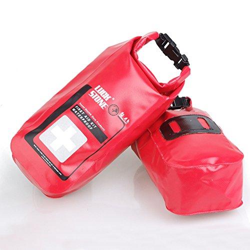 LuckyStone First Aid-Borsa impermeabile per d'emergenza Outdoor, campeggio, escursionismo navigazione Surfing Kayaking, colore: rosso - Guanto Secco Gancio