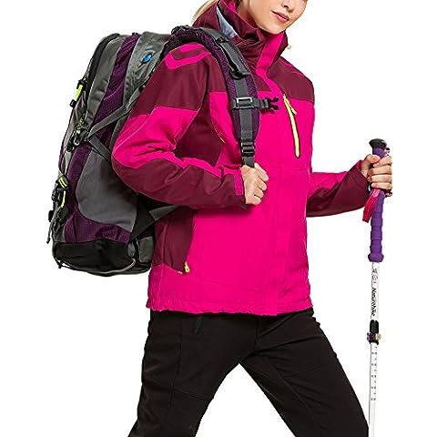 LaoZan - Chaqueta de Invierno - Esquí Acampada y Senderismo - Transpirable Impermeable y Cortaviento - Mujer - Color 4