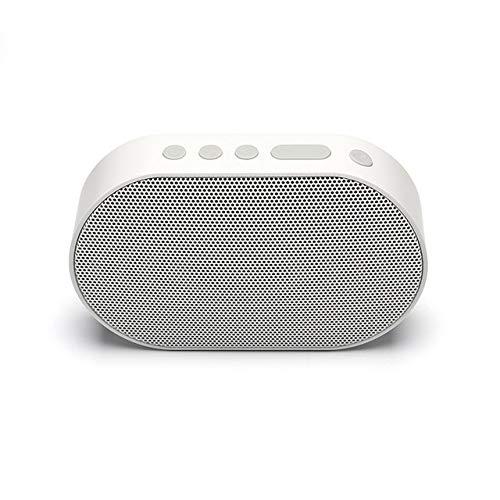 Colonne qiyanBluetooth Haut-Parleur Portable Haut-Parleur Bluetooth Mini WiFi Haut-Parleur sans Fil Soundbar Boîte à Sons Compatible avec Alexa-in AI Speakers Blanc