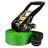 ALPIDEX Slackline 10 m Kinderslackline (2 t), Farbe:grün