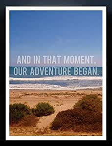 Crude Area 'And In That Moment Our Adventure Began' by Josie Steinfort Framed Poster (Archival Paper, Small)