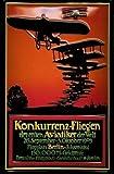 Konkurrenz - Fliegen der Aviatiker Berlin 1909 Blechschild Schild Blech Metall Metal Tin Sign 20 x 30 cm