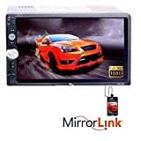 Accedre 7060/7002/7018 Double Din HD Touch Screen & Mirror Link with Car Rear View 8LED Night Vision Camera