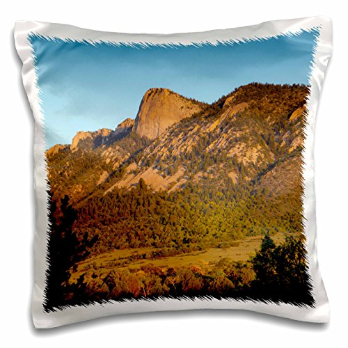 resa Pryor - Campground - Stockade camp below the Tooth of Time, Cimarron, New Mexico, USA - 16x16 inch Pillow Case (pc_191474_1) ()