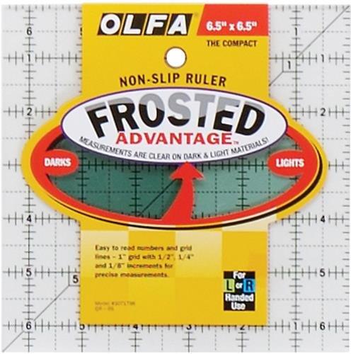 Olfa QR6S Quilten Lineal Anti-Rutsch, 6,5 x 6,5 Zoll -