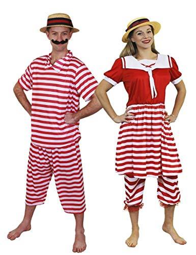 Erwachsene Paare Kostüm - ILOVEFANCYDRESS Erwachsene Victorian BADEGÄSTE Paare KOSTÜME