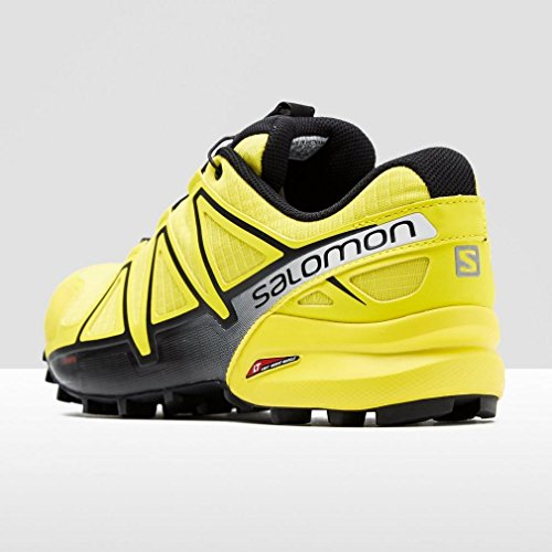Salomon Speedcross 4, Chaussures de Trail Homme, Bleu Jaune