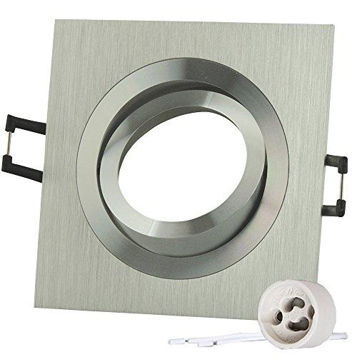 10x Lu-Mi®SD-1047 –Marcos para focos empotrables (marco de montaje de aluminio, plateado,...