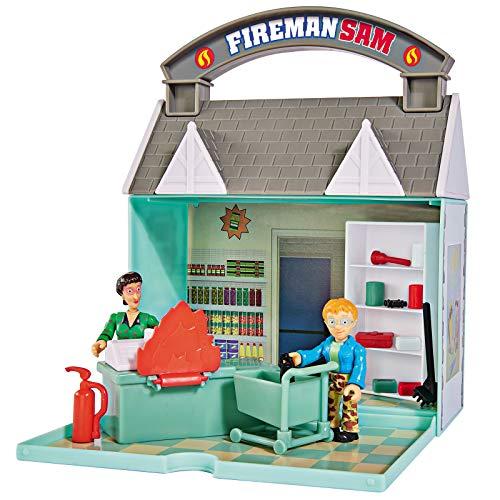 feuerwehrmann sam supermarkt #1018 Feuerwehrmann Sam Dily´s Supermarkt zum Aufklappen • Dilys Einkaufsladen Shop Norman Pontypandy Spielset