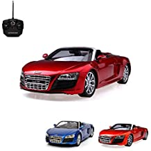 Audi R8Spyder–RC teledirigido licencia de vehículo en el original de diseño, modelo de escala 1: 18, de Ready to de Drive, Auto Incluye control remoto y batería, Nuevo