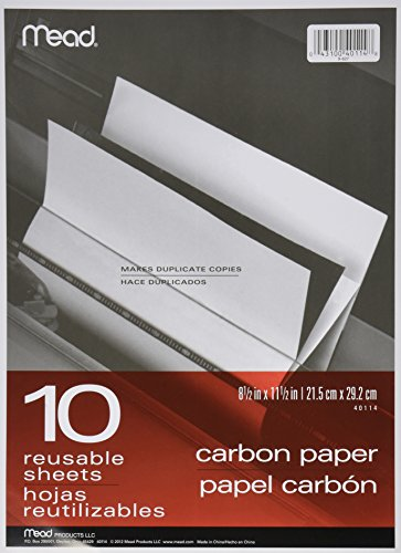 Schwarz Carbon Mill Finish Papier, 8-1/2 x 11-1/2, 10 Blatt -