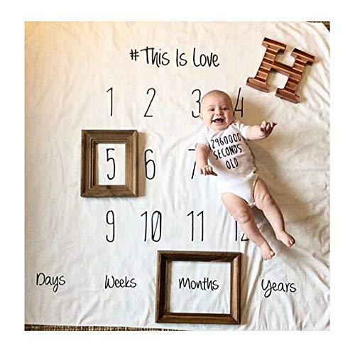 Amorar Neugeborenes Fotografie Wrap, DIY Neugeborenes Fotografie Foto Requisiten Wrap monatliche Meilenstein Decke Foto Hintergrund, Baby Fotoshooting Accessoires,EINWEG Verpackung (Einfach Schwangerschaft Kostüm)