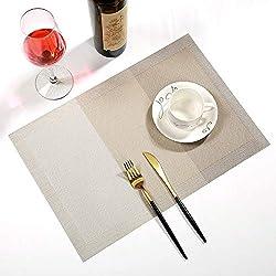 LALLing Tapis de Table de PVC adiabatique Moderne frontière créative Tapis de Table Western Restaurant Tapis de Table Bol Tapis sous-Verres Western Food Mat