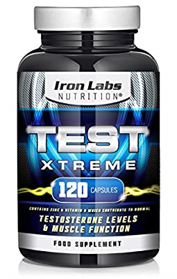 Test Xtreme: Testosterone Booster - Muscle Growth & Strength (120 Capsules) from Iron Labs Nutrition