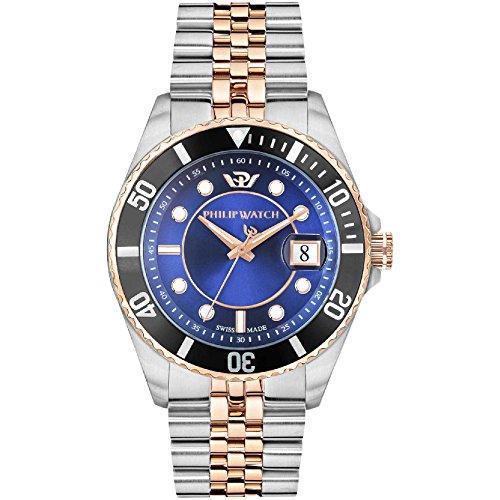 PHILIP WATCH Reloj Analógico para Hombre de Cuarzo con Correa en Acero Inoxidable R8253597026