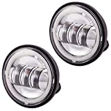 Automotive Best Deals - Autofy Pro Rider 3 LED with White Ring Universal Fog Light for All Bikes (Set of 2)