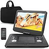 Pumpkin 14 Pouce Lecteur DVD / CD / MP3 / Vidéo Portable HD Résolution Ecran 1366 * 768 Batterie Rechargeable avec 5 Heures d'autonomie Soutient USB / SD, entrée AV IN / OUT, Sac Inclus