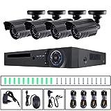8Eninine Il Nero Stabilito Impermeabile della videocamera di Sicurezza del Sistema di videosorveglianza di sorveglianza infrarossa del Monitor