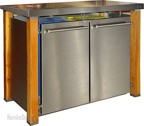 Mülltonnenbox mit Pultdach & Holzpfosten 2x240L