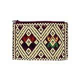 Portemonnaie lila beige, Geldbörse aus Stoff, HANDMADE, Kosmetiktasche, Etui klein, Handgewebte Geldbeutel, Brieftasche