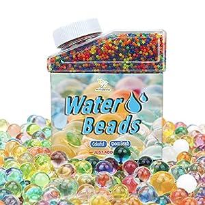 50,000 Stück Wasserperlen Vase Füller Perlen Edelsteine Wasser Perlen Jelly Bunt Wasserperlen Regenbogen Mischung für…